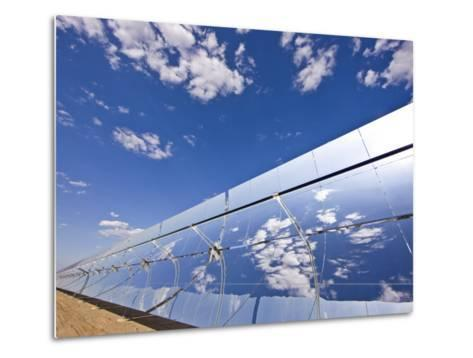 Parobolic Mirrors at a Solar Thermal Plant are Used to Heat Oil-Michael Melford-Metal Print