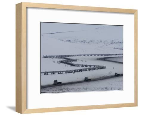 Alaska Pipeline and the Dalton Highway, Alaska-Michael S^ Quinton-Framed Art Print