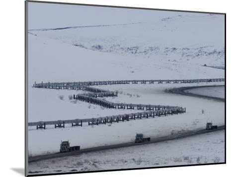 Alaska Pipeline and the Dalton Highway, Alaska-Michael S^ Quinton-Mounted Photographic Print