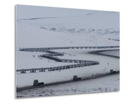 Alaska Pipeline and the Dalton Highway, Alaska-Michael S^ Quinton-Metal Print