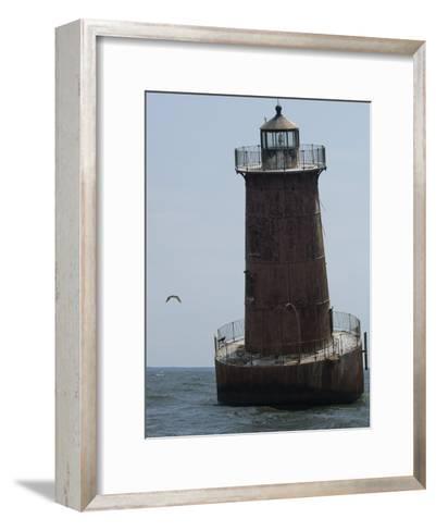 Weathered Sharps Island Light, in the Chesapeake Bay-Paul Sutherland-Framed Art Print