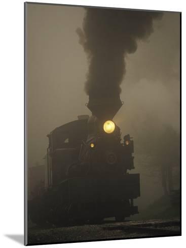 Steam Locomotive Belching Smoke on a Foggy Morning-Raymond Gehman-Mounted Photographic Print