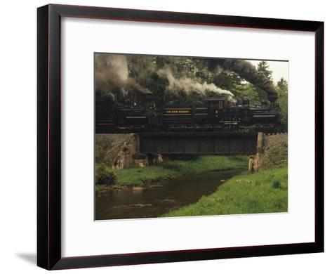 Cass Scenic Railroad Train Crossing a Bridge over a Stream-Raymond Gehman-Framed Art Print