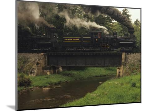 Cass Scenic Railroad Train Crossing a Bridge over a Stream-Raymond Gehman-Mounted Photographic Print