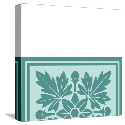 Tonal Woodblock in Blue I-Vision Studio-Stretched Canvas Print