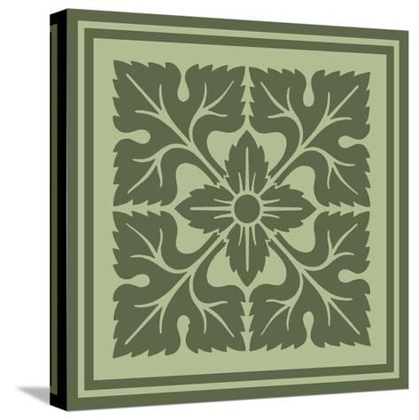 Tonal Woodblock in Green IV-Vision Studio-Stretched Canvas Print
