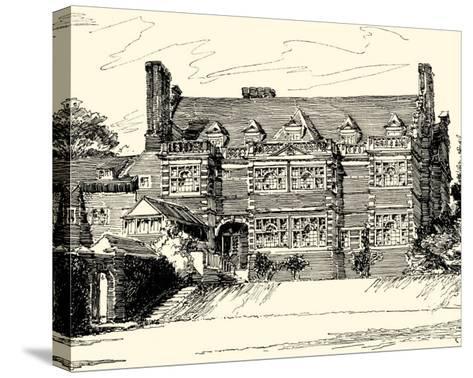 English Architecture III-Reginald Blomfield-Stretched Canvas Print