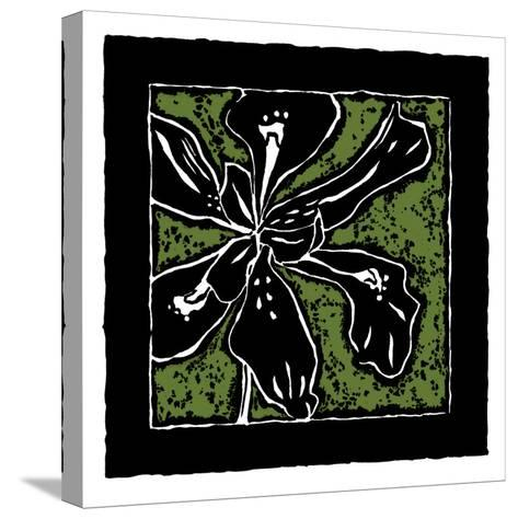 Tropical Woodblock III-Chariklia Zarris-Stretched Canvas Print