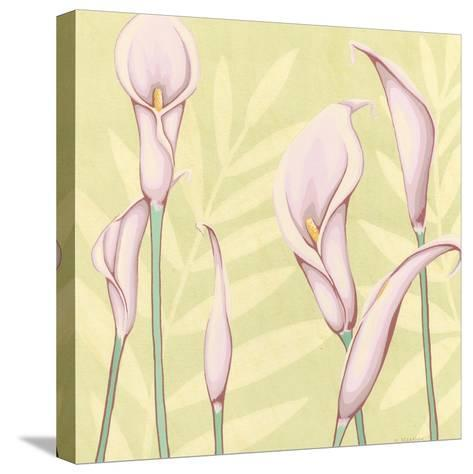 Garden Silhouette II-Megan Meagher-Stretched Canvas Print