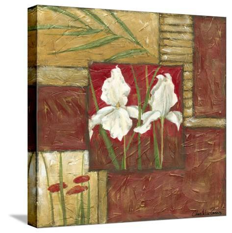 Red Lacquer Collage II-Chariklia Zarris-Stretched Canvas Print