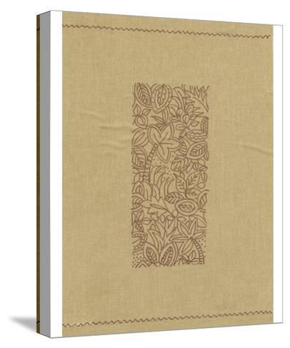 Palm Motif I-Vision Studio-Stretched Canvas Print