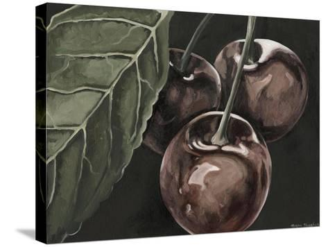 Midnight Cherries-Megan Meagher-Stretched Canvas Print