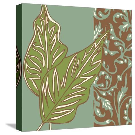 Nouveau Leaves I-Chariklia Zarris-Stretched Canvas Print