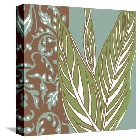 Nouveau Leaves II-Chariklia Zarris-Stretched Canvas Print