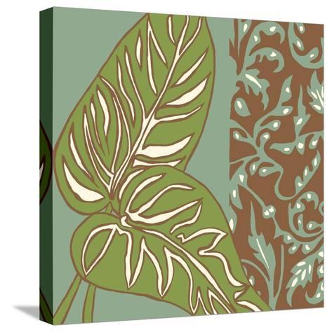 Nouveau Leaves III-Chariklia Zarris-Stretched Canvas Print
