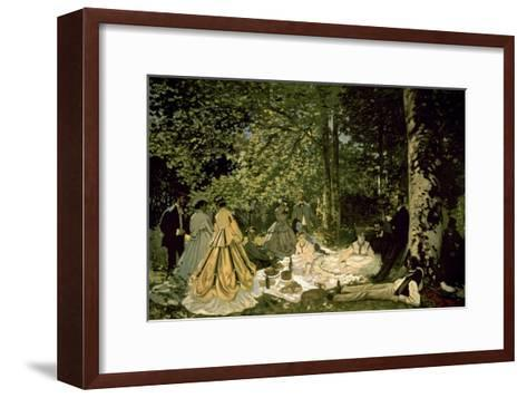 The Picnic-Claude Monet-Framed Art Print