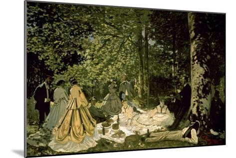 The Picnic-Claude Monet-Mounted Art Print