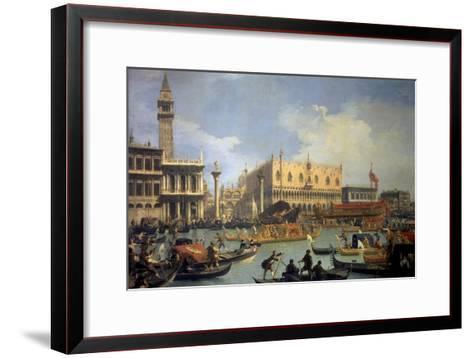 The Betrothal of the Venetian Doge to the Adriatic Sea-Canaletto-Framed Art Print
