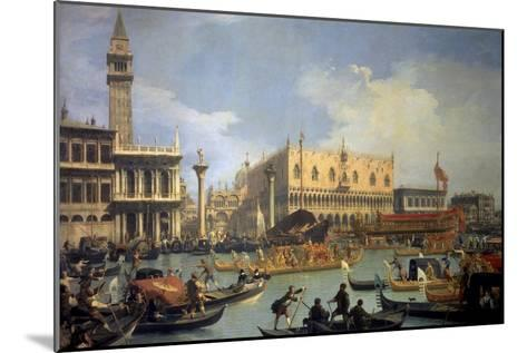The Betrothal of the Venetian Doge to the Adriatic Sea-Canaletto-Mounted Premium Giclee Print