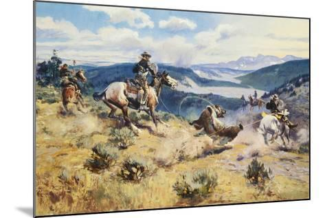 Loops and Swift Horses are Surer than Lead-Charles Marion Russell-Mounted Premium Giclee Print
