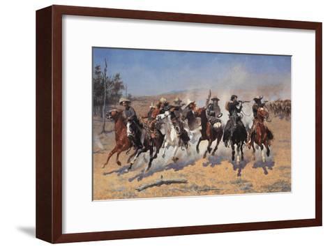 A Dash for Timber-Frederic Sackrider Remington-Framed Art Print