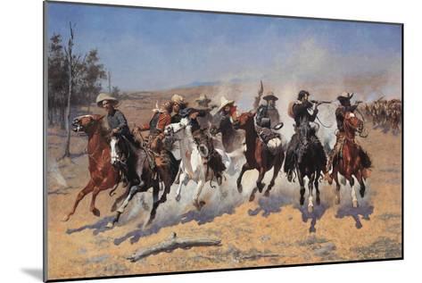 A Dash for Timber-Frederic Sackrider Remington-Mounted Premium Giclee Print