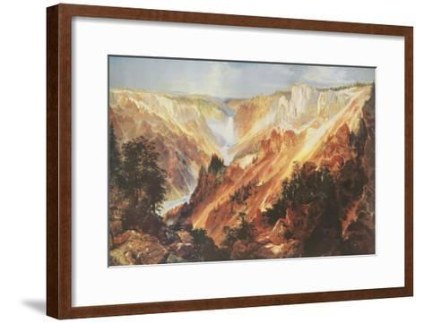 The Grand Canyon of the Yellowstone-Thomas Moran-Framed Art Print