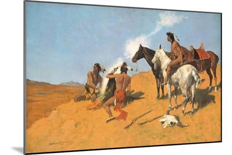 The Smoke Signal-Frederic Sackrider Remington-Mounted Premium Giclee Print