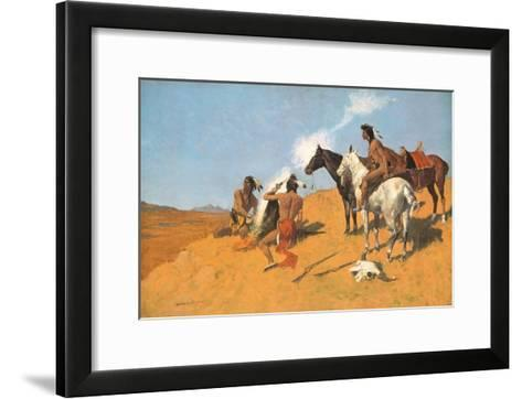 The Smoke Signal-Frederic Sackrider Remington-Framed Art Print
