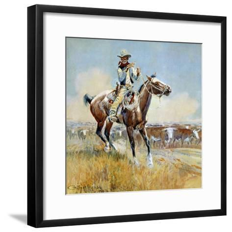 Beef for the Fighters-Charles Marion Russell-Framed Art Print