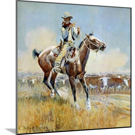 Beef for the Fighters-Charles Marion Russell-Mounted Premium Giclee Print