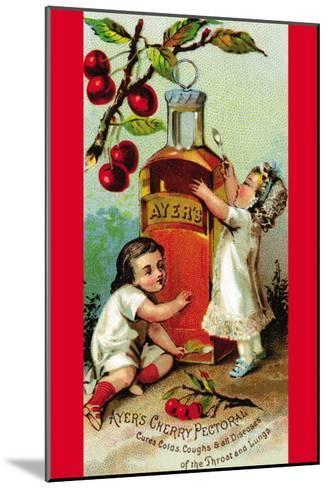 Ayer's Cherry Pectoral--Mounted Art Print