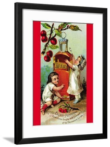 Ayer's Cherry Pectoral--Framed Art Print