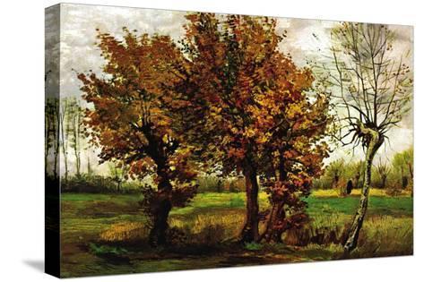 Autumn Landscape with Four Trees-Vincent van Gogh-Stretched Canvas Print