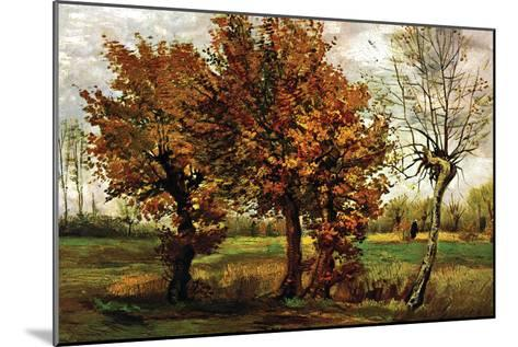 Autumn Landscape with Four Trees-Vincent van Gogh-Mounted Art Print