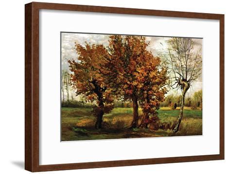 Autumn Landscape with Four Trees-Vincent van Gogh-Framed Art Print