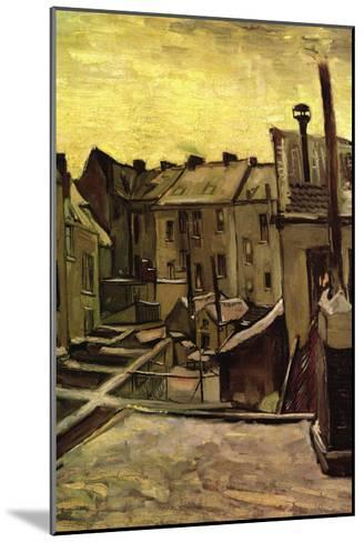 Backyards of Old Houses In Antwerp In The Snow-Vincent van Gogh-Mounted Art Print
