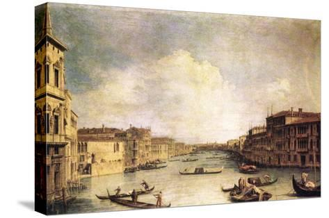 Grand Canal-Canaletto-Stretched Canvas Print