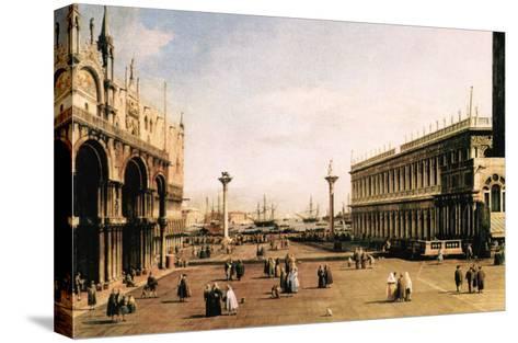 La Piazza-Canaletto-Stretched Canvas Print