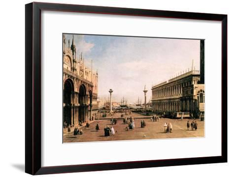 La Piazza-Canaletto-Framed Art Print