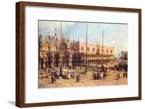 Piazza San Marco-Canaletto-Framed Art Print