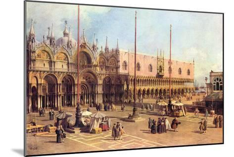 Piazza San Marco-Canaletto-Mounted Art Print