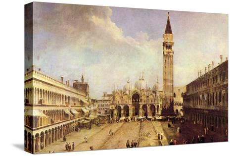 Piazza San Marco-Canaletto-Stretched Canvas Print