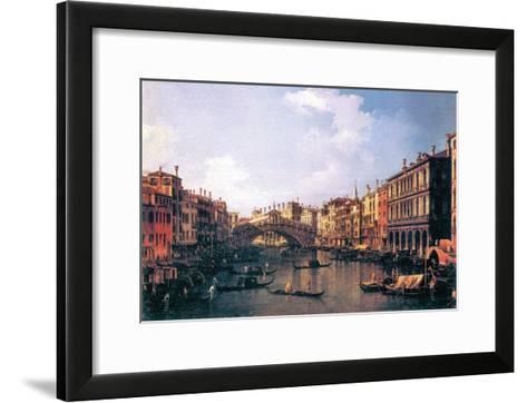 The Rialto Bridge-Canaletto-Framed Art Print