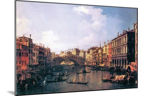 The Rialto Bridge-Canaletto-Mounted Art Print