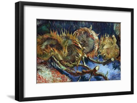Four Sunflowers Gone To Seed-Vincent van Gogh-Framed Art Print