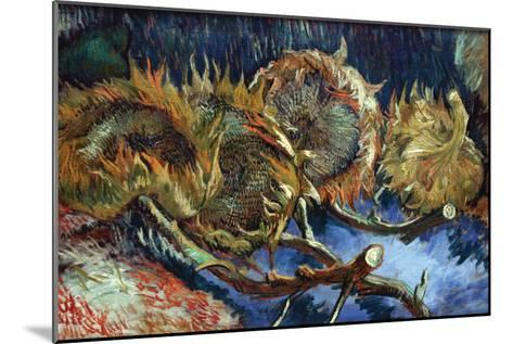Four Sunflowers Gone To Seed-Vincent van Gogh-Mounted Art Print