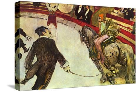 In The Circus-Henri de Toulouse-Lautrec-Stretched Canvas Print