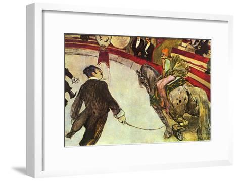 In The Circus-Henri de Toulouse-Lautrec-Framed Art Print