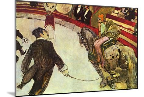 In The Circus-Henri de Toulouse-Lautrec-Mounted Art Print